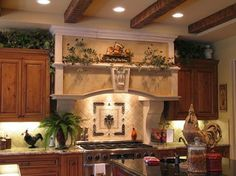 Design and images gallery related to Vintage Tuscan Kitchen Style Kitchen Ideas Tuscan Style, Tuscan Style Decorating, Tuscan Style Homes, Tuscan House, Decorating Ideas, Decor Ideas, Tuscan Kitchen Decor, Decorating Above Kitchen Cabinets, Wooden Kitchen Cabinets