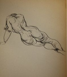 Nude From Sketch Book, , #Art, #Ink Drawings, $750.00