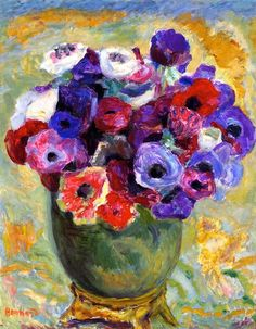 """ Anemones "" 1917 By Pierre Bonnard                              …"