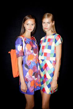 Behind the scenes at Marimekko's S/S 2014 fashion show at Copenhagen Fashion Week. Copenhagen Fashion Week, Fashion Show, Fashion Outfits, Marimekko, Amanda, Yves Saint Laurent, Summer Dresses, Clothes, Jewelry