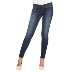 Power Ultra Skinny Jeans   Hudson's Bay (€92) ❤ liked on Polyvore featuring jeans, guess jeans, guess skinny jeans, white jeans, cut skinny jeans and skinny fit jeans