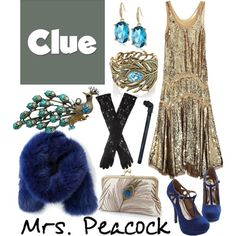 """""""Mrs. Peacock 1 - Clue"""" by b-scottyer on Polyvore"""
