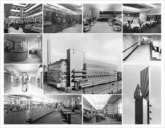 """The """"De Bijenkorf"""" department store, Rotterdam by Willem Marinus Dudok, built destroyed in 1940 Rotterdam, Harlem Renaissance, Bauhaus, Amsterdam School, Art Deco, City Lights, Netherlands, Dutch, The Neighbourhood"""