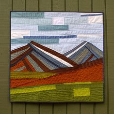 So in love here! How to make a landscape (my fave subject in quilts) have a modern feel? Improv it.