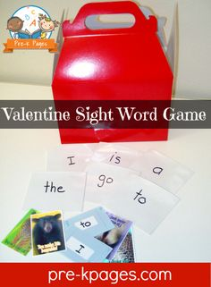 Valentine Card Sight Word Game for Pre-K and Kindergarten