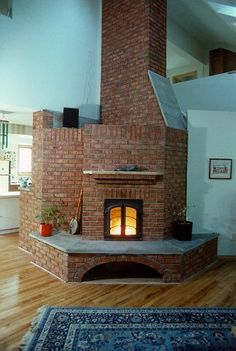 masonry heater Excellent proportions in stove and home's space