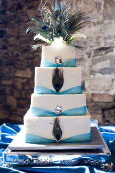 my peacock wedding cake ... <3