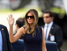 'Thoughts and prayers': Internet sets Melania Trump straight after she claims she's 'the most bullied person in the world' Us First Lady, Prince Charles And Camilla, Gold Gown, Gucci Dress, First Lady Melania Trump, Duchess Of Cornwall, Independent Women, British Style, Belted Dress
