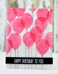 Project: Vellum Balloon Card
