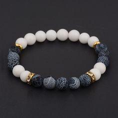 2017 Men Women s Yoga Bead Charm Agate Stretch Lovely Fashion Bracelets   mensaccessoriesbracelet Fashion Jewelry ab2c87f124aa