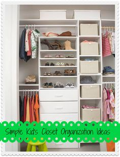 Great Tips for organizing your kids closets tipsaholic.com #tipsaholic