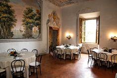 Stufa hall  Castello di Meleto