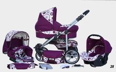 I want this for my granddaughter.purple and black gucci baby stroller and car seat ..