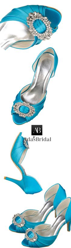 b30e8fd44d2 Chic Satin Upper Peep Toe Stiletto Heels Bridal Shoes With Rhinestones  Sapatos