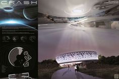 Architecture board-CRASH-Museum of Science Fiction Washington DC #architecture #museum #mosf #competition #board