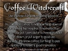 Coffee Witchcraft