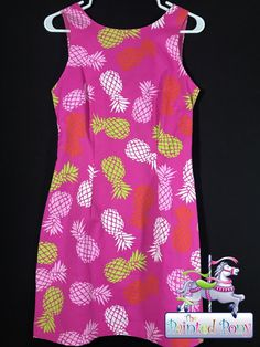 Very classy, colorful dress from The MacBeth Collection, classic pineapple designs, size XS, only $16.99!