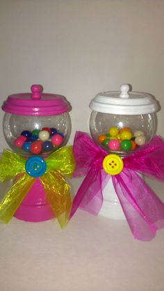 Faux Gumball Machine Centerpiece