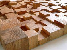 wood blocks | wood wall art, wood walls and walls