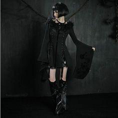 J-Goth Slim Kimono Sleeves Long Coat