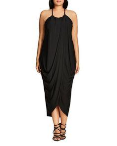 7bf1968f879b1 City Chic Slinky Wrap Maxi Dress Drape Maxi Dress