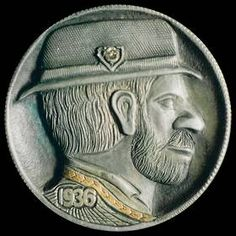 Steve Cox Hobo Nickel, Antique Coins, Bearded Men, Jewelry Collection, Buffalo, Classic Style, Cactus, Auction, Carving