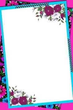 Frame Border Design, Page Borders Design, Flower Background Design, Paper Background, Hand Washing Poster, Printable Border, Boarders And Frames, 2 Clipart, School Frame