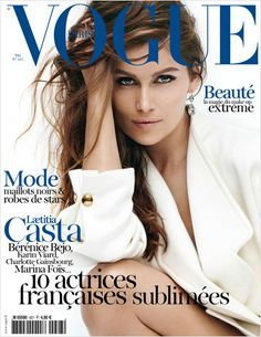 The always stunning Laetitia Casta posing for the latest edition of French Vogue
