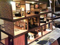 Modern Dollhouse, Dollhouses, Corner Desk, Furniture, Home Decor, Corner Table, Decoration Home, Room Decor, Doll Houses