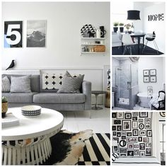 Monochrome interior inspiration - black and white decor.