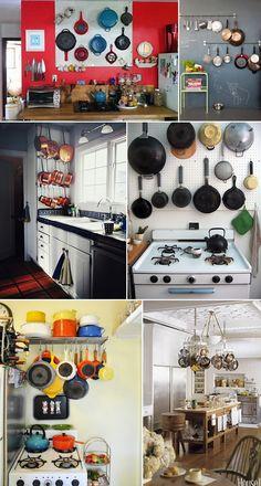 De qual ideia de decoração com panelas você mais gostou?
