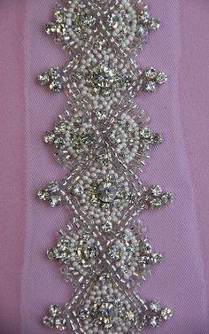 1 YARD of Luxury Crystal Beaded Bridal Trim NEW by allysonjames, $268.00