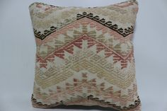 Thank you for visiting my shop.I am happy to share my handmade kilim pillows with you.I will be happier if you have some of them and love them...  KILIM PILLOW DETAILS:  * I make my kilim pillows from fine quality,vegetable dyes,vintage Turkish Anatolian Kilims. * Size is 16 x 16 or 40cm x 40cm * Front side is wool on wool kilim rug. * Back side is high quality cotton fabric with a high quality zipper. * Insert in not included.It is just for demonstration purpose but if you need insert you…