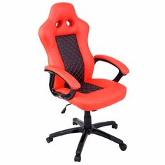74.99$  Buy here - http://alihfp.worldwells.pw/go.php?t=32781419910 - Goplus High Back Race Car Style Bucket Seat Office Desk Chair Gaming Chair New  HW51423