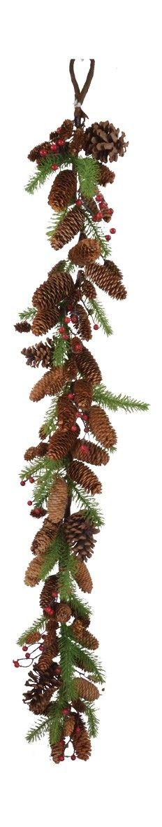 Pine, Cone and Berry Garland
