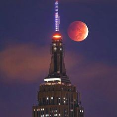 Super moon in NYC
