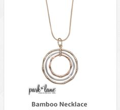 Bamboo necklace silver, gold, rose gold