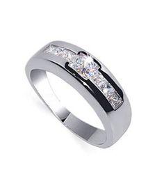 Promise Rings for Men-CZ Promise #Ring for Men Sterling Silver $38.99