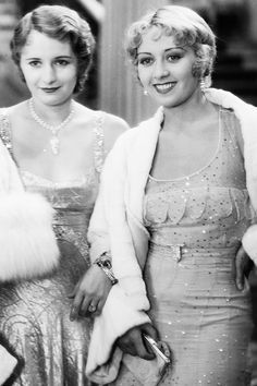 Barbara Stanwyck and Joan Blondell
