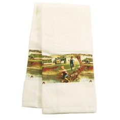 $6.99 Farm Fishing Trouble Border Kitchen Towel - Set of 2  From BigKitchen   Get it here: http://astore.amazon.com/ffiilliipp-20/detail/B001LD75R6/187-0557144-4158040