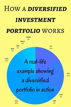 Here is a real-life example of how a diversified investment portfolio works and why you should be diversified. via /maximizemoney/