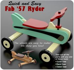 Quick and Easy Fab '57 Ryder Wood Toy Plan Set