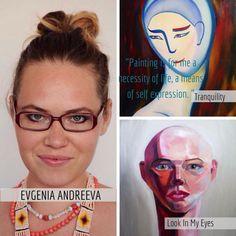 #SNAC-expo award-winning contemporary Israeli artist Evgenia Andreeva has 3 pieces on display + at our #onlinegallery | Tel Aviv, #Israel + Russian | www.snac-expo.com