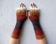 Fingerless gloves Womens Fingerless mittens Lace by mareshop