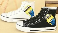 Movie unisex cute shoes film Despicable Me 2 men women Casual shoes Minions  - http://hooligansentertainment.com/2014/03/02/movie-unisex-cute-shoes-film-despicable-me-2-men-women-casual-shoes-minions/