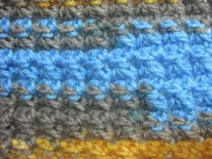 Trinity Stitch - Left Handed Crochet Stitch Tutorial