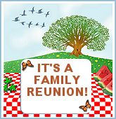 1000 images about family events flyers on pinterest for Reunion banners design templates