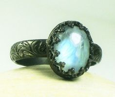 moonstone ring from etsy-tazzlescustomjewelry