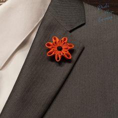 Pin de solapa Margarita flor solapa pin Pin de por DidiArtCorner