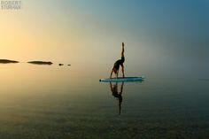 yoga paddle boarding